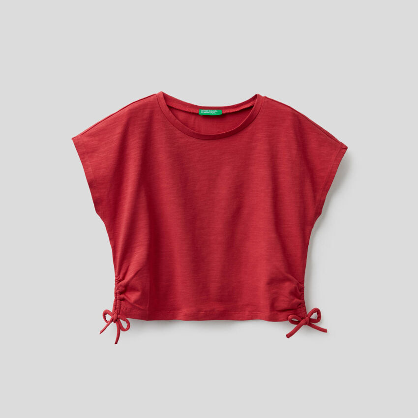 T-shirt in stretch cotton with bows