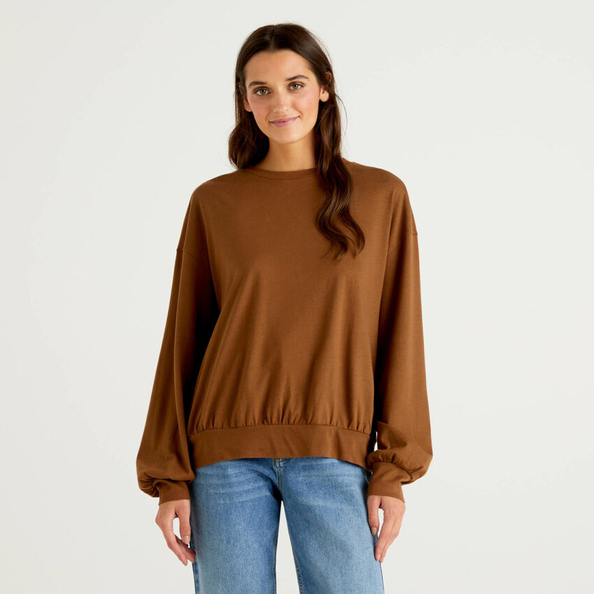 Blouse in 100% cotton jersey