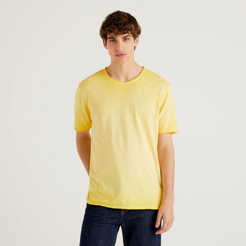 Cotton t-shirt with fade effect