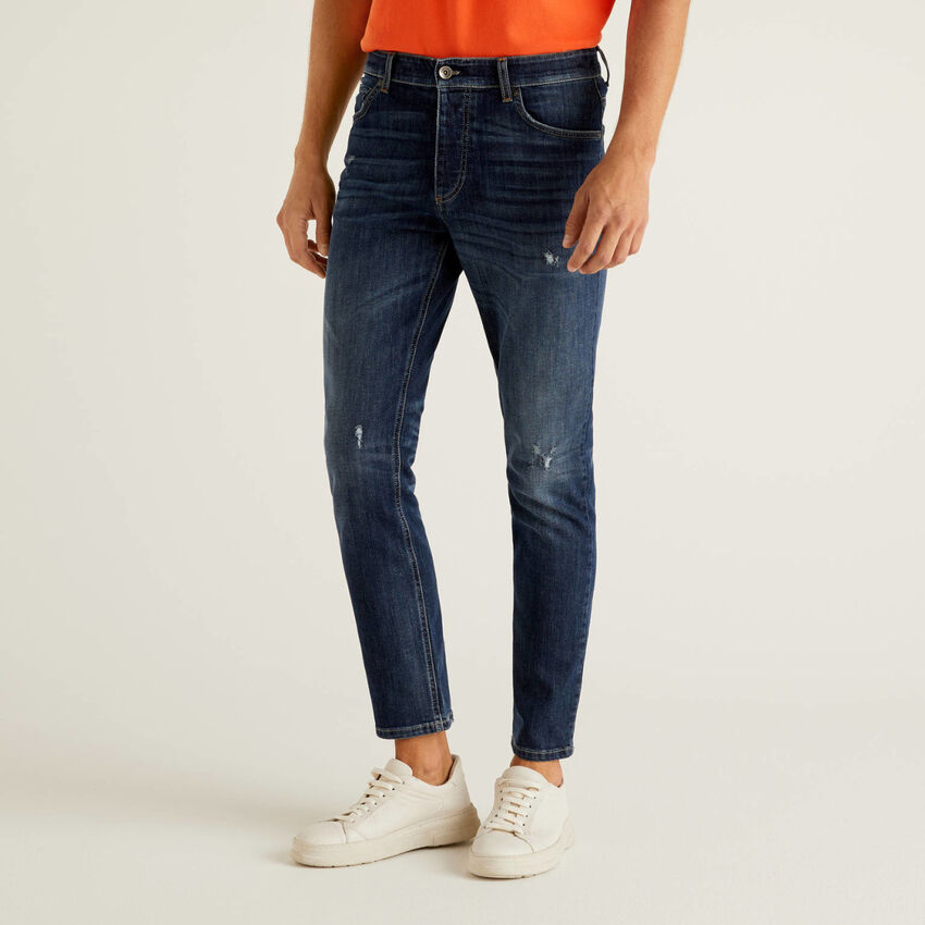 Slim fit jeans with regular waist