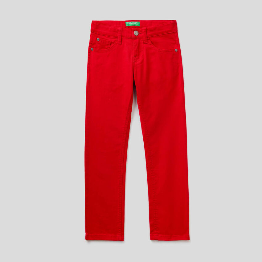 Five pocket slim fit trousers