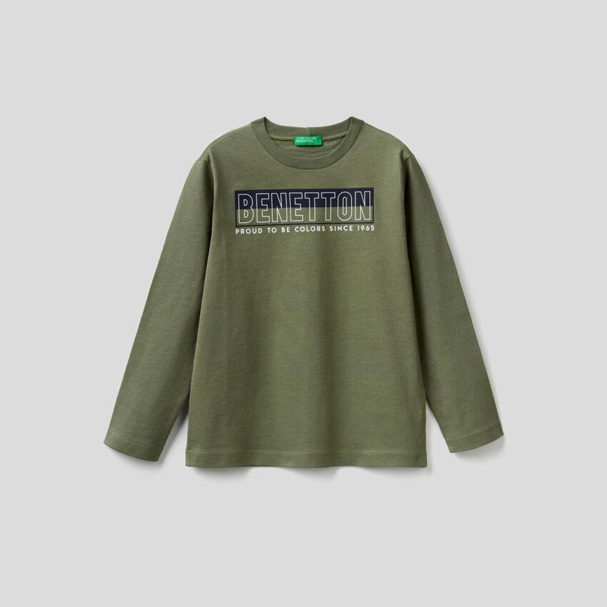 Camiseta de manga larga de algodón orgánico