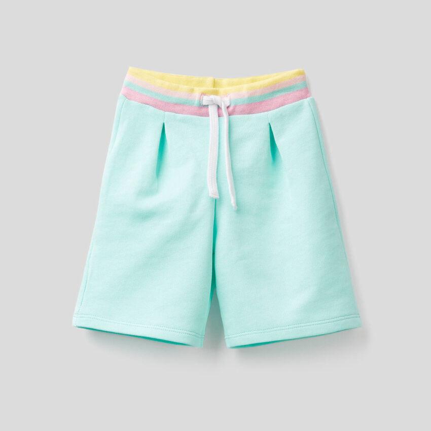 Bermudas in 100% cotton sweat