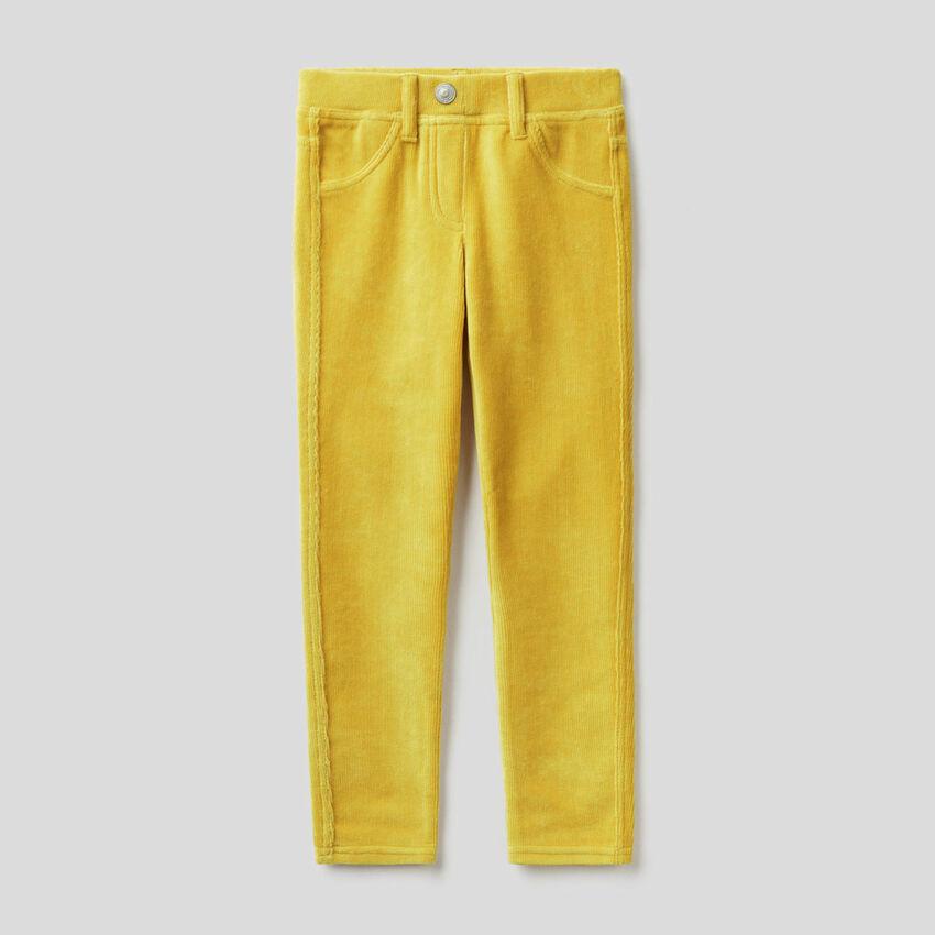 Super skinny chenille trousers