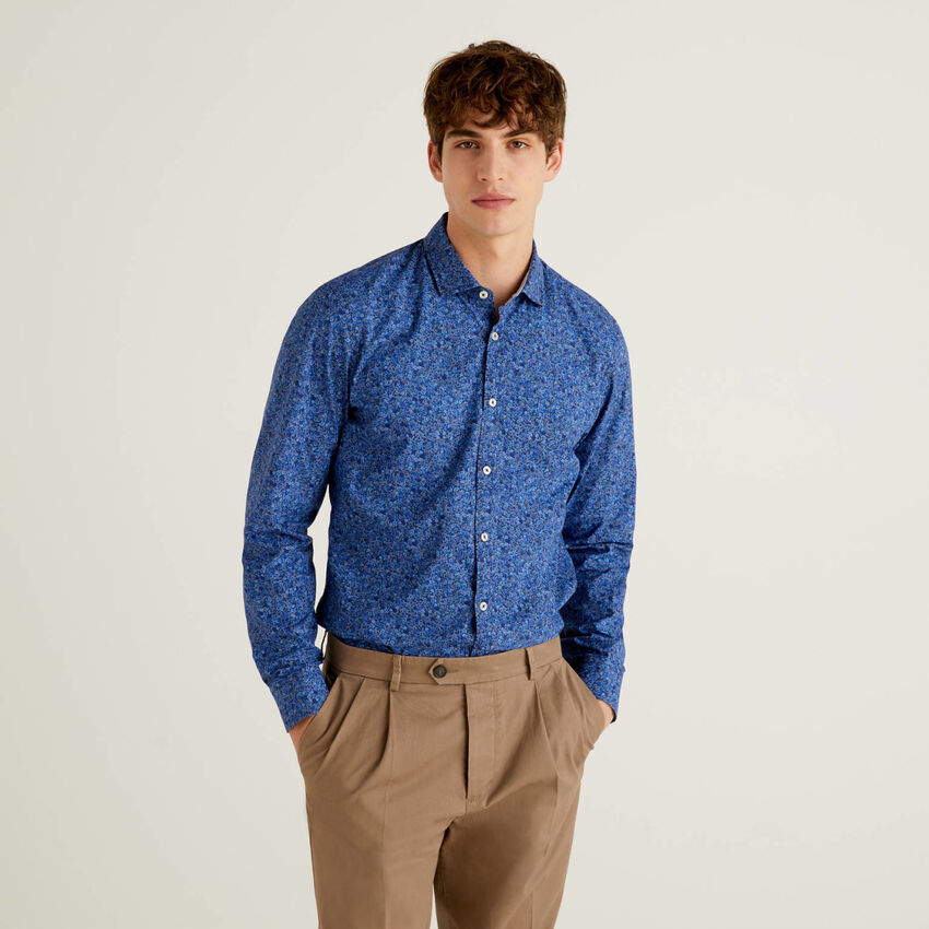 Camisa slim fit estampada