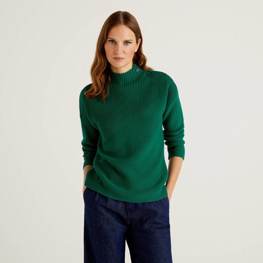 Jersey de lana mixta con botones