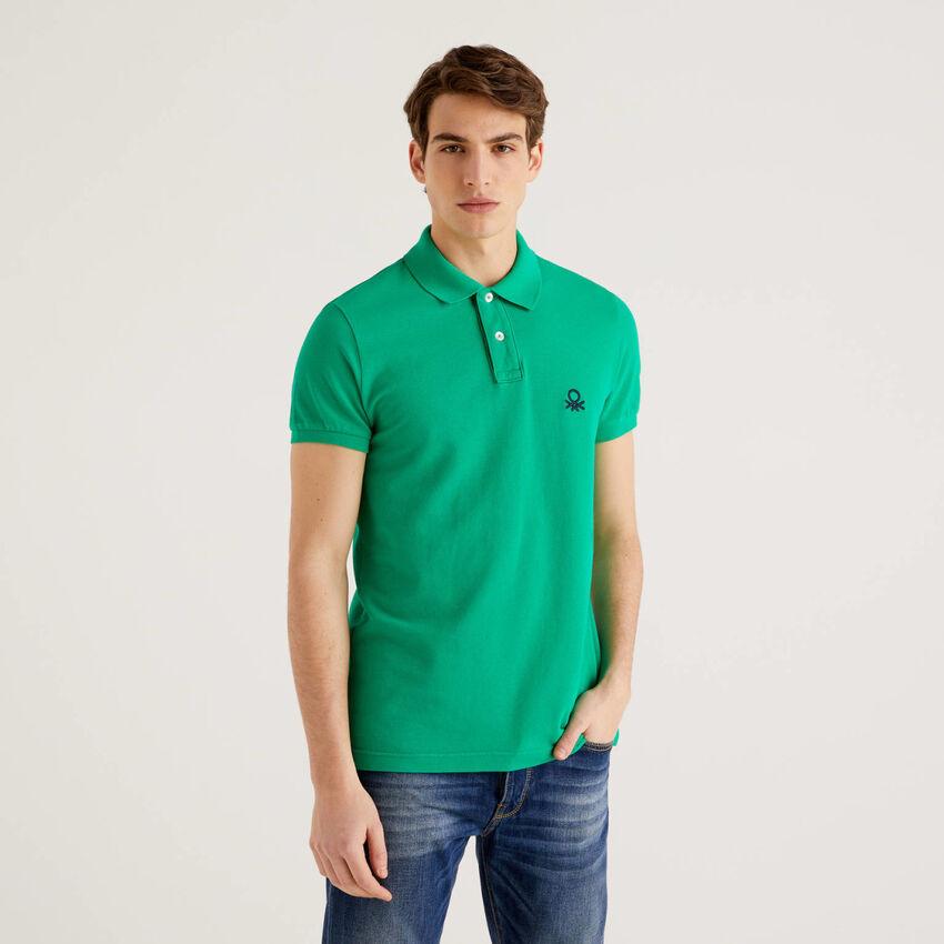 Polo slim fit verde