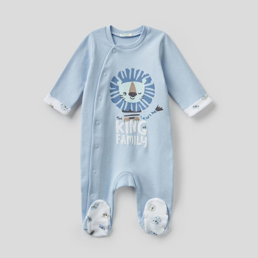 Onesie in organic cotton with print