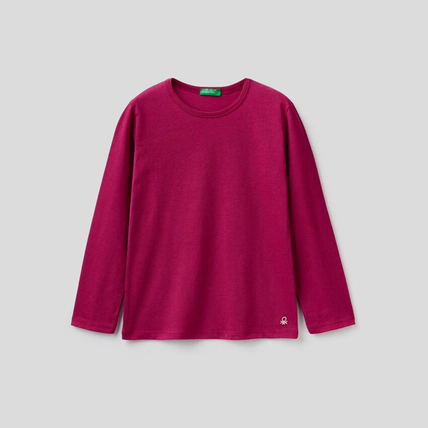 Long sleeve cyclamen t-shirt