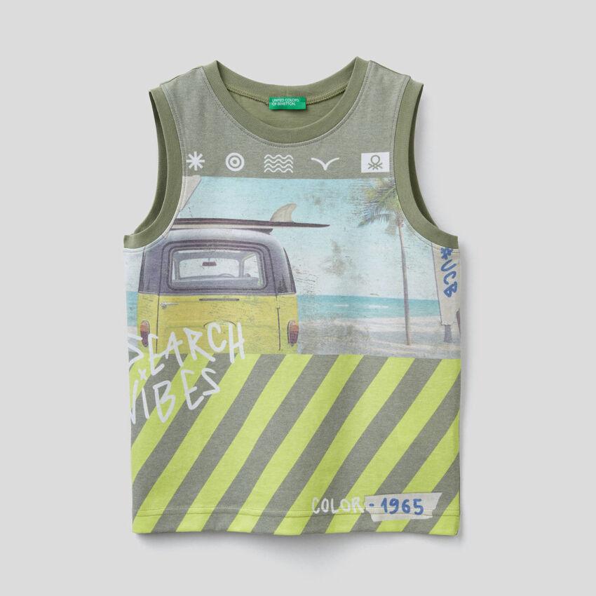 Camiseta de tirantes con estampado de surf
