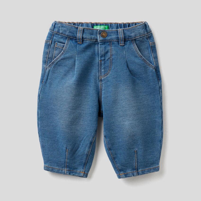 Pantalón slouchy de efecto denim