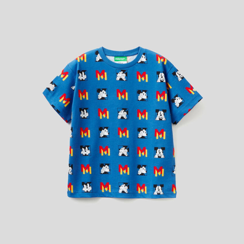 Light blue t-shirt with Mickey Mouse print
