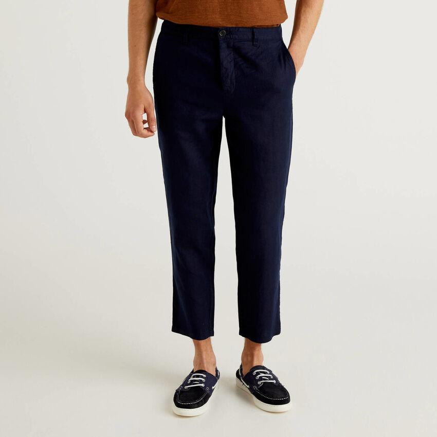 Pantalones chinos de puro lino