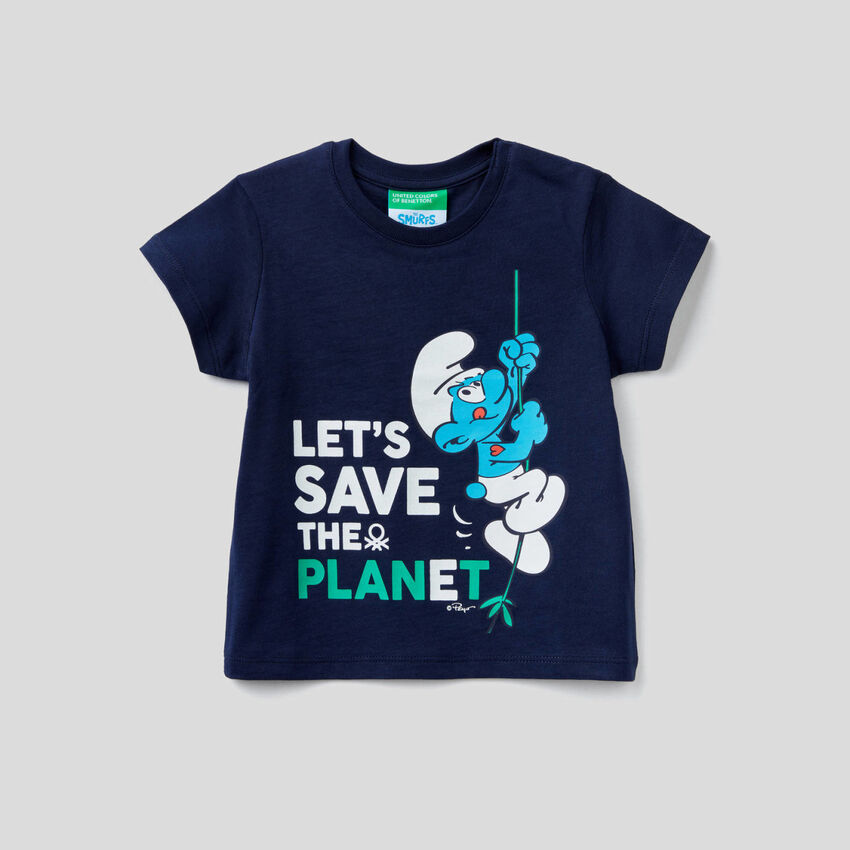 T-shirt with The Smurfs print