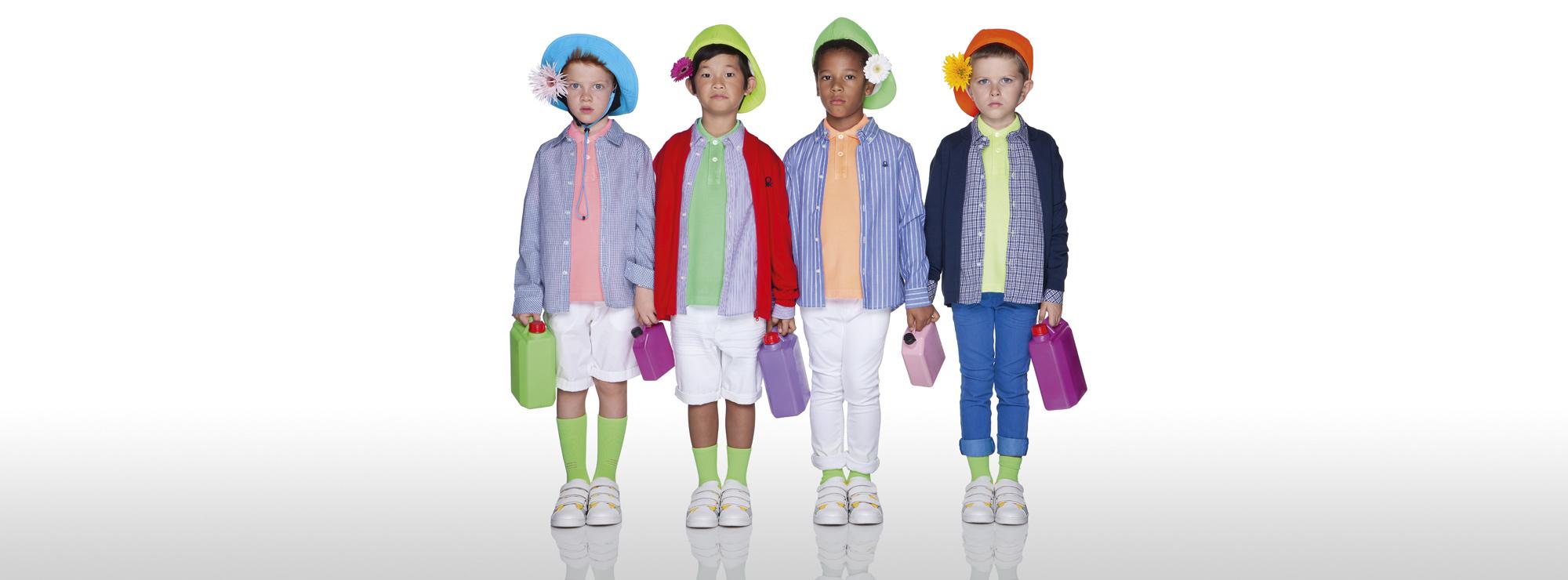 Boys' Iconic Polos Benetton